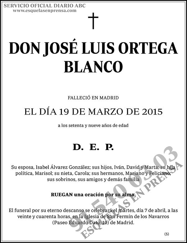 José Luis Ortega Blanco